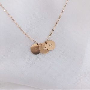 Jewelry - Personalized Initials Necklace, 3 Discs.